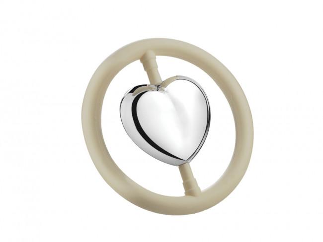 Teething ring Heart sp. B90