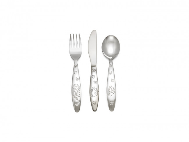 Children's cutlery 3pcs Emergency veh. s/s