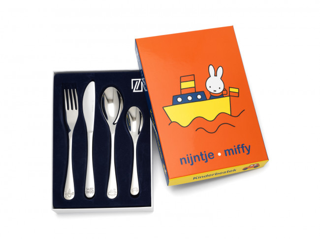 Children's cutlery 4pcs Miffy vehicles s/s