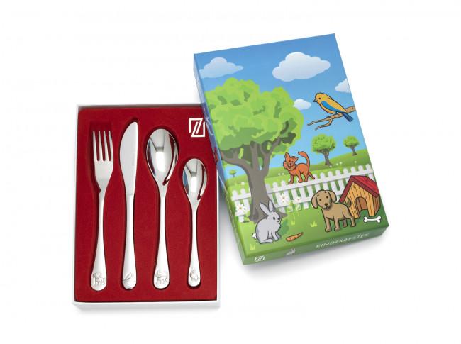 Children's cutlery 4-pcs Pets s/s