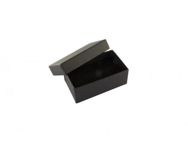Geschenkdoos manchetknopen/steekspeld zwart incl. inlay