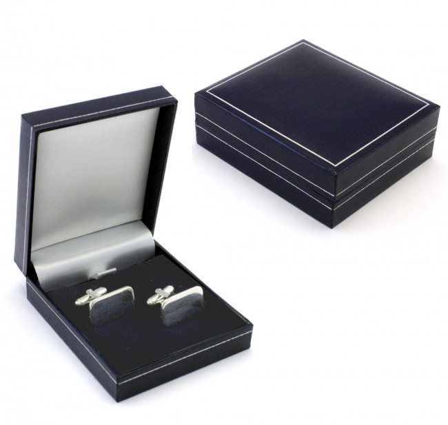 Luxe geschenkverpakking manchetknopen blauw
