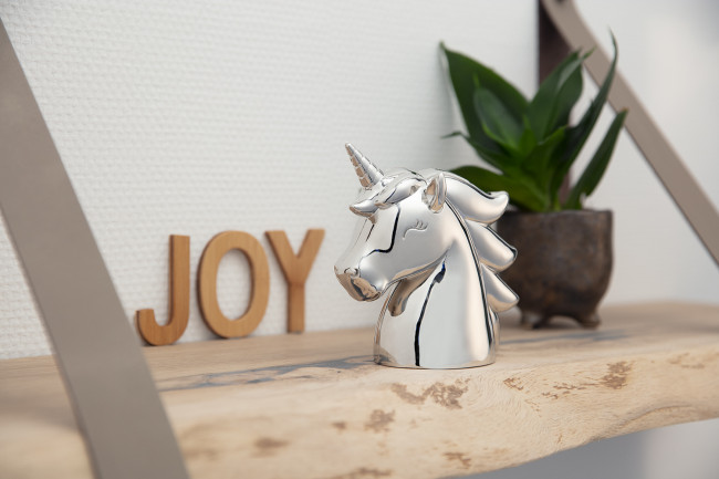 Money box Unicorn silver colour