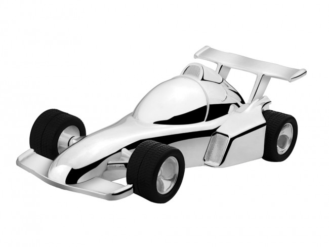 Money Box Racing Car 15,4x7,2x4,8cm sp./lacq.