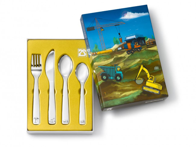 Children's cutlery 4pcs Const.Vehicles s/s