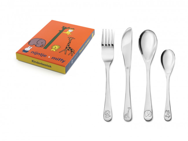 Children's cutlery 4-pcs Miffy Zoo s/s