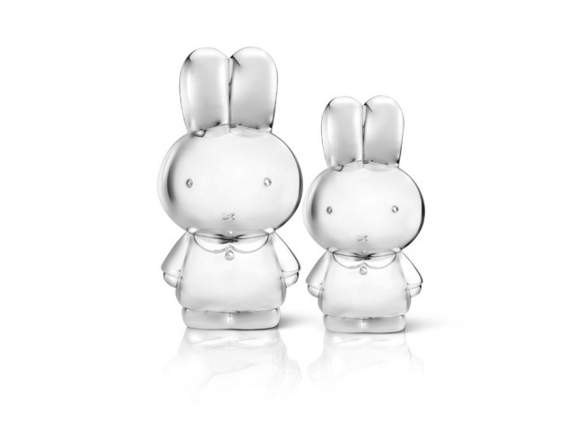 Money Box Miffy silver colour