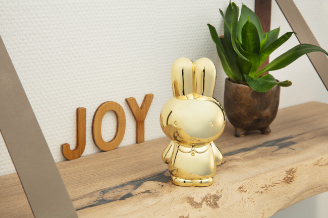 Money box Miffy gold colour lacquered