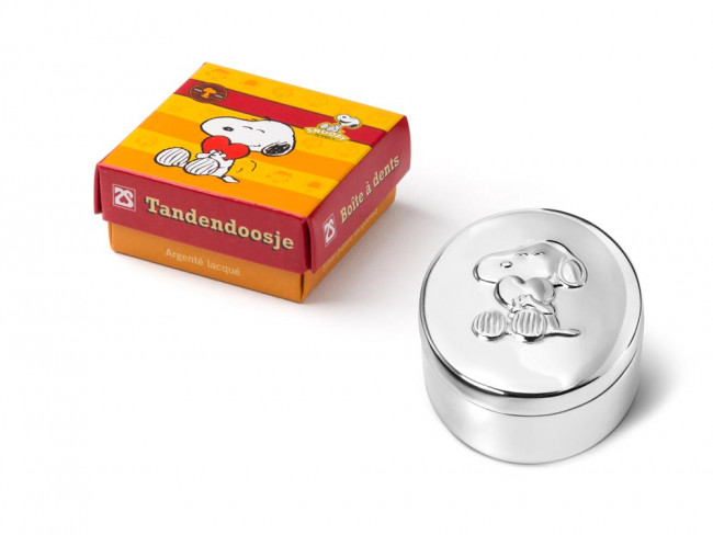 First tooth/haircurl box Snoopy sp./ lacq.