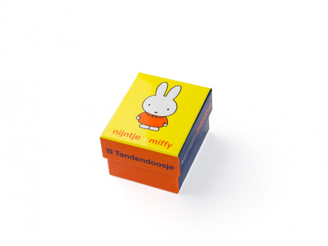 Tooth/haircurl box Miffy 6x4 silver colour