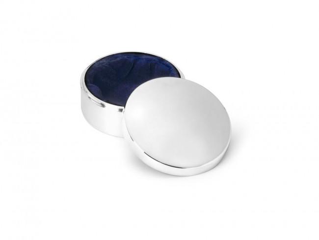 Box plain round 42mm silver colour