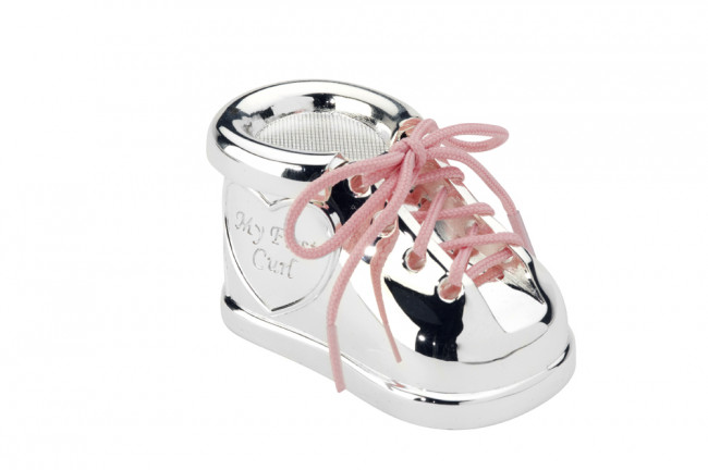 First tooth and curl box Shoe with laces sp./lacq.