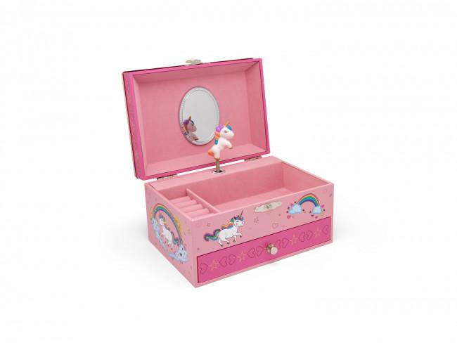Jewelry box unicorn with rim  7.2x12.3x9.8cm sp./lacq.