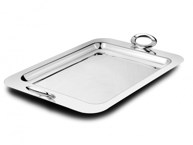 Serving tray Ovation 50x31cm silver colour