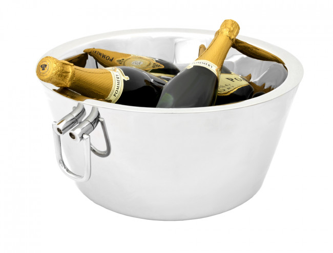 Champagne bowl double walled s/s with grips