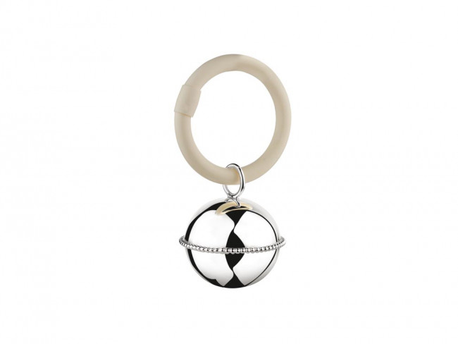 Teething ring Ball pearl on ring 9x5,5x3,5cm 925 silver