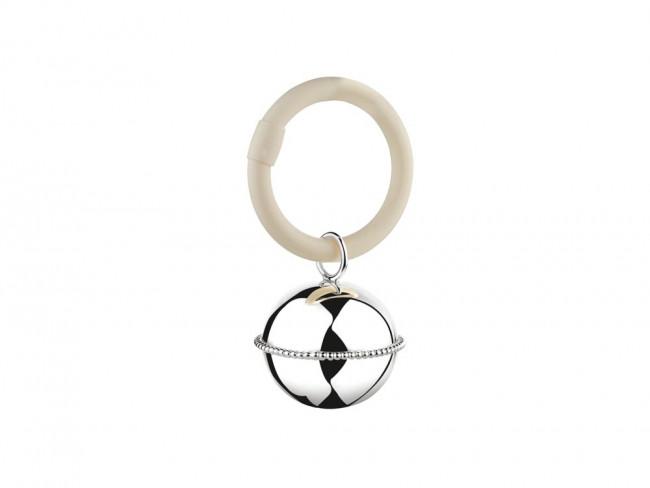 Teething ring Ball Pearl on ring 9x5,5x3,5cm sp. B90