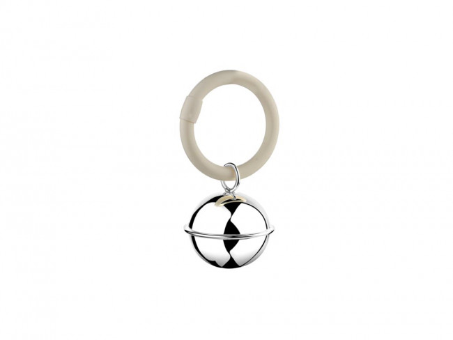 Teething ring Ball smooth 9x5,5x3cm silver NETTO