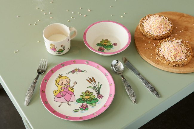 Children's cutlery 3-pcs Princess, 18/10 s/s