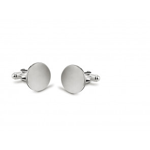 Cufflinks Round, smooth, 17mm, sp B90