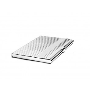 Business card holder Linea with engr. shield sp./lacq.