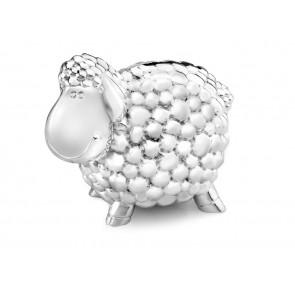 Money box Sheep 11.5cm silver colour