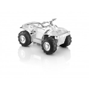 Money box Quad, silver plated/lacquered