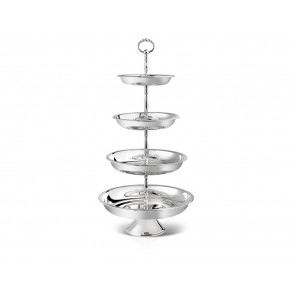 Serving stand Pearl round, 4-tier 30/25/21/18 sp.