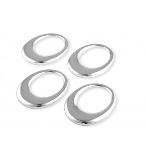 Napkin rings Oval, set of 4 (7x5,2 cm) sp./lacq.