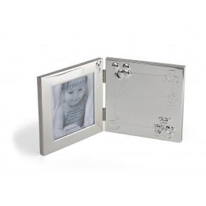 Fotorahmen Happy Baby 10x10cm versilbert