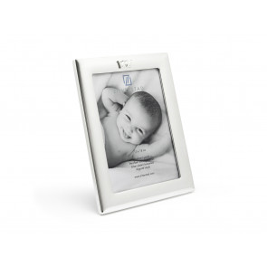 Photo Frame 13x18 cm  w/Crown Icon Silver Pl w/Lacq.