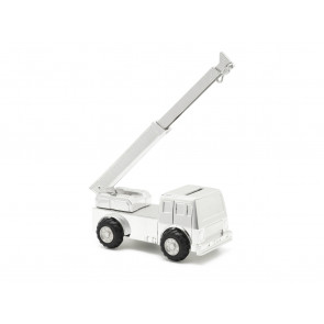 Money Box Crane silverplated lacquered