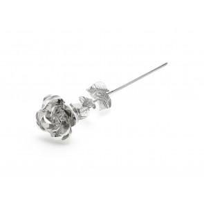 Iron Wire Rose silverplated lacquered