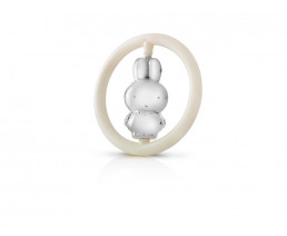 Rattle miffy, silver plated (B90 heavy silver plated)
