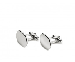 Cufflinks oval (925 Silver)