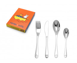 Children's cutlery Miffy vehicles, 4 pieces, stainless steel