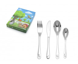 Children's cutlery Pets, 4 pieces, stainless steel
