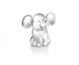 Money box Elephant, silver plated lacquered