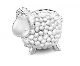 Money Box Sheep, silver plated lacquered