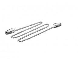 Napkin clips with chain, silver colour