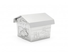 Money box Farmer's barn, silver colour