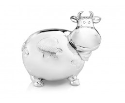 Money box Cow, large, silver colour