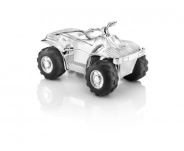Money box Quad, silver plated lacquered