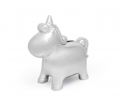 Money box Unicorn, silver colout