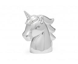 Money box Unicorn, silver colour