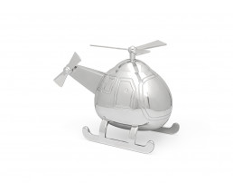 Money box Helicopter, silver colour