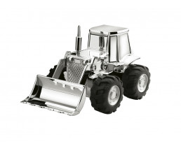 Money Box Tractor, silver colour