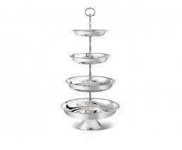 Serving stand Pearl, 4-tier, silver plated