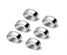 Napkin rings Oval, set of 6, silver colour
