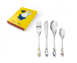 Children's cutlery miffy plays, 4 pieces, stainless steel